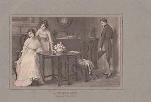 Victorian Peace Maker On Lovers Argument Love Romance Antique Painting Postcard