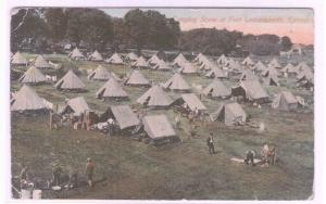 Tent Camp Fort Leavenworth Kansas 1911 postcard