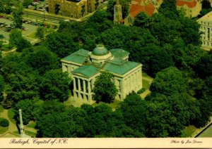 North Carolina Raleiigh Aerial View State Capitol