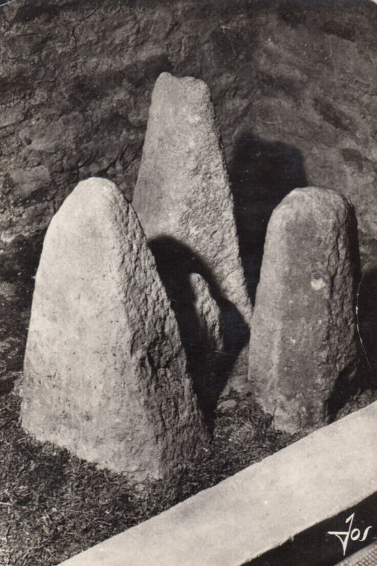 RP; PENMARC'H , France , 1940-50s ; Musee prehistorique finisterien , Tombs a...