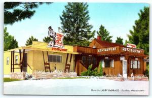 Postcard MA Gardner It's Cedar Lodge Lobster Restaurant R25