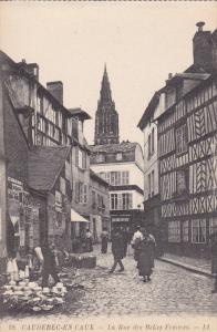 CAUDEBEC EN CAUX, Seine Maritime, France, 1900-1910's; La Rue Des Belles Femmes