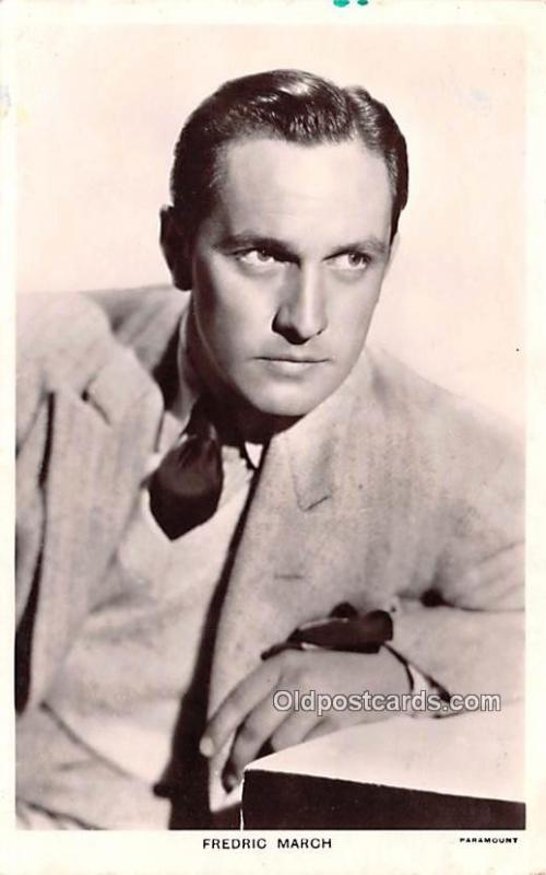 Fredric March Movie Star Actor Actress Film Star Postcard, Old Vintage Antiqu...