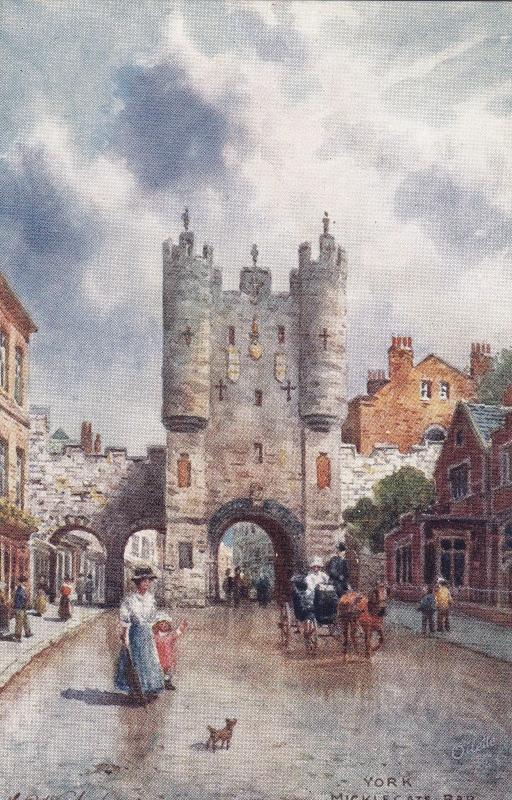 AS: TUCK #7767; YORK, England, 00-10s; Wimbush, Micklegate Bar