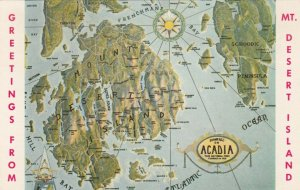 MT DESERT ISLAND , Maine , 1972; Greetings and Map