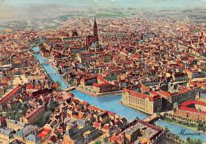 France Strasbourg Vue Aerienne Bridges Air view