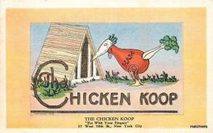 1940s Chicken Koop Restaurant New York City  Kropp linen Artist Impression 2687