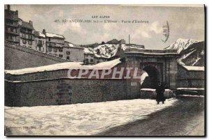 Old Postcard Briancon Winter Gate of Embrun