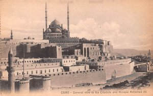 General View of the Citadelle and Mosque Mohamed Ali Cairo Egypt, Egypte, Afr...