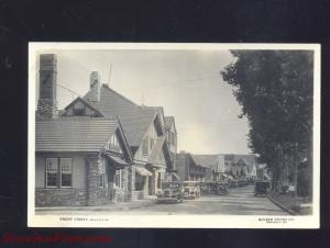 RPPC HOLLISTER MISSOURI DOWNTOWN STREET SCENE 1930's CARS REAL PHOTO POSTCARD
