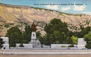 North Dakota Badlands Statue Of Marquis De Mores In Medora