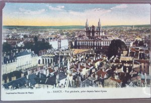 Old Postcard of Nancy France general overview from Saint Epvre