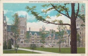 North Carolina Durham Dormitory Quadrangle West Campus Duke University