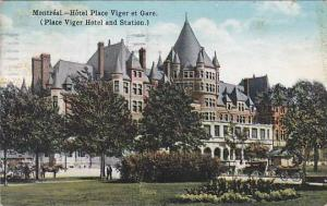 Hotel Place Viger et Gare, (Place Viger Hotel and Station), Montreal, Canada,...