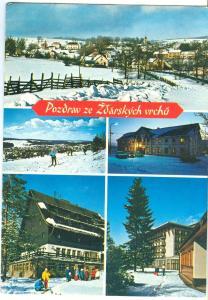 Czech Republic, Pozdrav ze Zdarskych vrchu, used Postcard