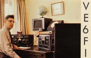 CALGARY, Alberta, Canada, 50-60s; QSL Postcard , Radio Operator