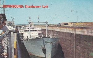 Eisenhower Lock , St Lawrence Seaway , New York , 50-60s ; The PEERLESS