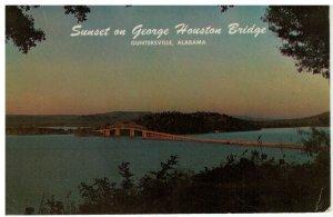 Postcard - Sunset on George Houston Bridge, Guntersville Lake, Alabama