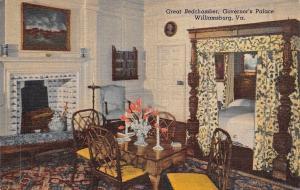 USA Great Bedchamber, Governor's Palace Williamsburg Virginia