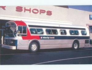 Modern Postcard INTERCITY TRANSIT BUS IN 1980 SCENE AT SHOP Olympia WA E5834-12
