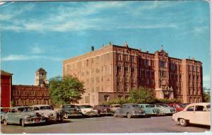 FORT WORTH, TX Texas   SAINT JOSEPH'S HOSPITAL  Cool 40s, 50s Cars  Postcard