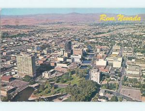 Pre-1980 AERIAL VIEW OF TOWN Reno Nevada NV F9384
