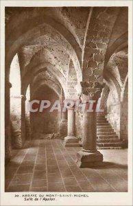 Postcard Abbey of Mont Saint Michel Hall Aquilon