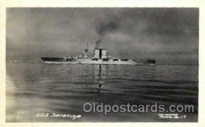 USS Saratoga Military Ship, Ships, Postcard Postcards Unused