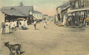c1910 Hand-Colored Postcard; Kissy Road, Freetown, Sierra Leone Africa, Unposted