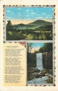 Lookout Mountain Tennessee~Scenic View~Falls~1920s Poem