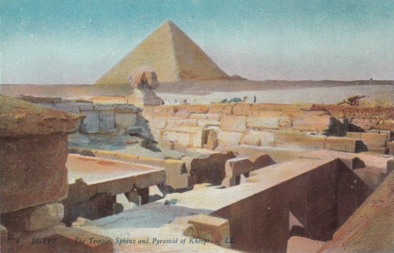 Temple , Sphinx & Pyramid of Kheops , Egypt , 1900-1910s
