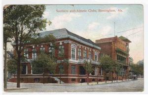 Southern & Athletic Clubs Birmingham Alabama 1910 postcard