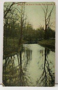 KY Beargrass Creek Scene in Cherokee Park Louisville Kentucky c1907 Postcard H6