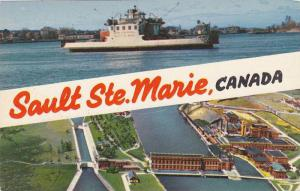 Scenic Greetings from Sault Ste. Marie, Canada,40-60s