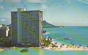 Hawaii Waikiki Beach Hilton Hawaiian Village 1970