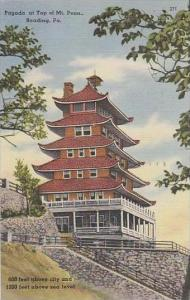 Pennsylvania Reading Pagoda At Top Of Mt Penn
