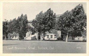 Lowell Grammar School, Turlock, California ca 1920s Vintage Postcard