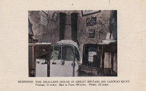 CONWAY QUAY, Wales, 1900-1910s; Smallest House In Great Britain, Bedroom