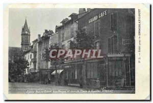 Old Postcard Notre Dame Church and the Snows Corner Square Aurillac Cantal