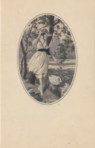 ART DECO ; MESCHINI ; Female portrait #1, 1910-30s