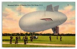 1942 Motorized Balloon and Rigging Crew, Fort Bragg, NC Postcard