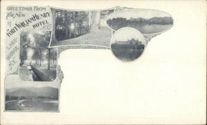 Lake George NY Fort William Henry Hotel Multi-View c1900 Private Mailing Card