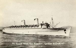Cunard White Star - Queen Elizabeth on War Service, WWII