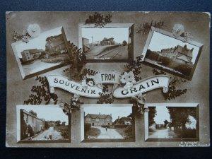 Isle of Grain 6 Image Multiview inc PPOST OFFICE, SCHOOL & RAILWAY ST c1918 RPPC