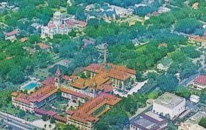 Aerial View Of Flagler College With Flagler Memorial Presbyterian Church In B...