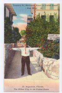 Treasury St Narrowest Street in US St Augustine Florida FL