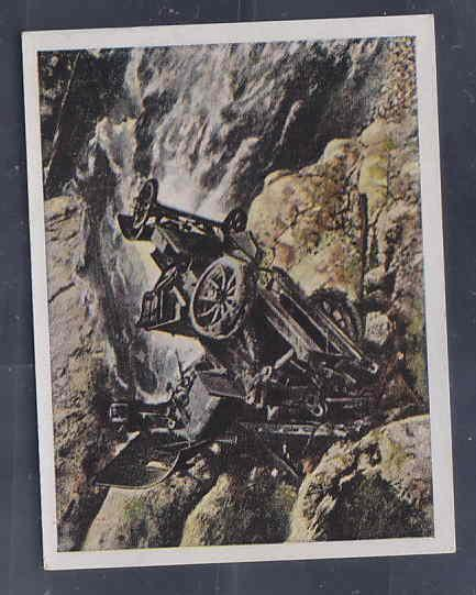 GERMANY TOBACCO CARD WWI 6x5 cms. TRUCK ACCIDENT AAD5159