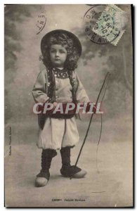 Old Postcard Folklore Young Breton