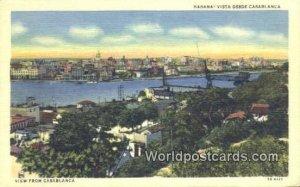 Vista desde Casablaca Habana Cuba, Republica De Cuba Unused