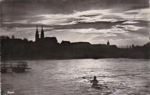Switzerland Basel bei nacht 1950 Photo